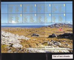 Falkland Islands 2007 Two Mini Sheets To Celebrate 25th Anniversary Of Liberation. - Falkland Islands