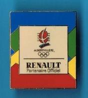PIN'S //  ** JEUX OLYMPIQUES / ALBERTVILLE / RENAULT / PARTENAIRE OFFICIEL ** . (© Cojo 1991) - Renault