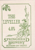 UNUSED BEERMAT - SPRINGHEAD BREWERY (SUTTON ON TRENT, ENGLAND) - THE LEVELLER - (Cat 004) - (1994) - Sous-bocks