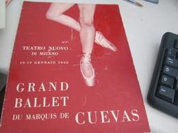 LIBRETTO  GRAND BALLET DU MARQUIS DE CUEVAS -TEATRO NUOVO DI MILANO - Cinema