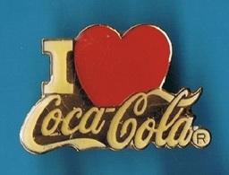 PIN'S //  ** I LOVE ** COCA COLA® ** - Coca-Cola