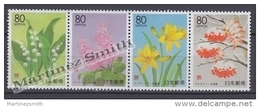 Japan - Japon 1999 Yvert 2559-62, Hokkaido Flowers - MNH - Nuevos