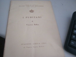 PROGRAMMA I PURITANI DI VINCENZO BELLINI -STAGIONE LIRICA 1961 - Cinema