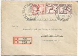 ALEMANIA REICH 1936 CC CERTIFICADA JUEGOS OLIMPICOS DE BERLIN MAT OLYMPIA STADION - Sommer 1936: Berlin