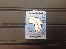 Marokko / Maroc - Landkaart Afrika, Philatelie (9.00) 2016 - Marokko (1956-...)