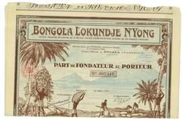 ACTION BONGOLA LOKUNDJE NYONG DOUALA CAMEROUN PART DE FONDATEUR AU PORTEUR 1927 - Afrique