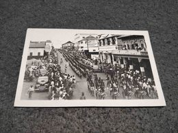 ANTIQUE PHOTO POSTCARD GHANA ACCRA STREET VIEW WITH MUSIC MARCH CIRCULATED W/ OVER TAX NO STAMP - Ghana - Gold Coast