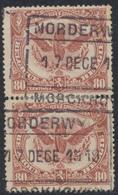 """Chemin De Fer - N°TR69 En Paire Verticale Cachet Chemin De Fer """"Norderwijk Morchoven"""" - 1915-1921"""