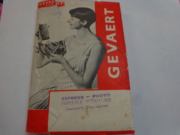 Pochette Gevaert Avec Negatifs-express Photo Tananarive-militaire Et Autre-1957 - Photography