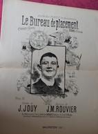 Partition Ancienne Le BUREAU De PLACEMENT Subac Eldorado J.Jouy Rouvier Ellincre Chanson Navette Piece Monnaie - Partitions Musicales Anciennes