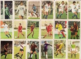Beau Lot De 35 Images Le Monde Prodigieux Des Etoiles Du FOOTBALL EN MATCH (1971/72) Scan Recto-verso - Trading Cards