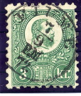 HUNGARY 1871 3 Kr. Engraved, Used With Fiume Cancellation.  Michel 9a - Used Stamps