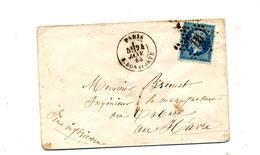 Lettre Cachet Etoile  Paris Sur Napoleon - Marcophilie (Lettres)