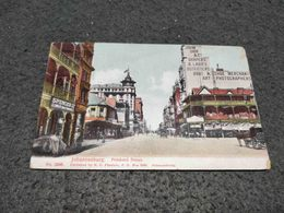 ANTIQUE POSTCARD SOUTH AFRICA JOHANNESBURG - PRITCHARD STREET CIRCULATED 1919 TO MOZAMBIQUE - South Africa