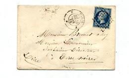 Lettre Cachet Losange Paris Sur Napoleon + Convoyeur Paris à Clermont - Marcophilie (Lettres)