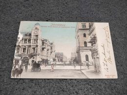 ANTIQUE POSTCARD SOUTH AFRICA JOHANNESBURG - HARRISON  STREET CIRCULATED 1906 - South Africa