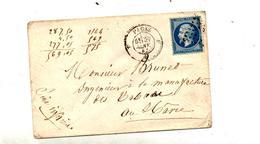 Lettre Cachet Losange Paris Sur Napoleon +?? - Marcophilie (Lettres)