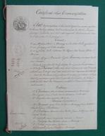 Document Juridique Daté Des Années 1850 - Moisenay - Rue Des Petites Écoles - Manoscritti