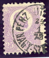 HUNGARY 1871 25 Kr. Lithographed, Used.  Michel 6a - Used Stamps