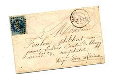 Lettre Cachet Losange Cahors  Sur Napoleon + Paris à Calais,  + ??? - Marcophilie (Lettres)