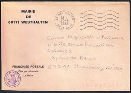 France Westhalten 1985 / Mairie De Westhalten - Postmark Collection (Covers)