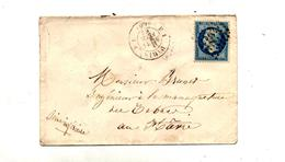 Lettre Cachet Losange Paris F1  Sur Napoleon + Le Havre - Marcophilie (Lettres)