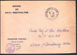 France Westhalten 1981 / Mairie De Westhalten - Postmark Collection (Covers)