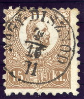 HUNGARY 1871 15 Kr. Lithographed, Used With Nagy Disznod Cancellation.  Michel 5b - Used Stamps