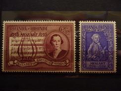 RUANDA URUNDI 200/201  Xx ( COB ) COTE : 10 EURO ( C ) - 1948-61: Nuovi