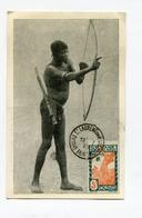 !!! GUYANE CARTE MAXIMUM INDIEN TIRANT A L'ARC CACHET DE ST LAURENT DU MARONI DU 18/2/1939 - Guyane Française (1886-1949)