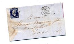 Lettre Cachet Losange Rouen  Sur Napoleon + Laigle - Marcophilie (Lettres)