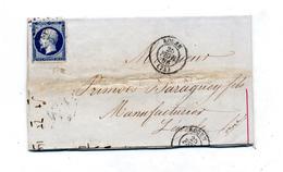 Lettre Cachet Losange Rouen Sur Napoleon + Laigle + Convoyeur ? à Paris - Marcophilie (Lettres)