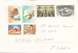 Enveloppe Pour Solterre Timbres D'Espagne Et De Grèce - 1991-00 Lettres