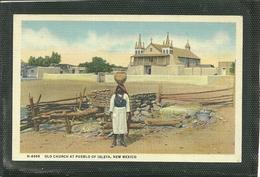 OLD CHURCH AT PUEBLO OF ISLETA, NEW MEXICO (ref 2441) - Messico