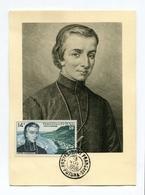 !!! CARTE MAXIMUM 14 F PERE CHANEL CACHET DE FUTUNA DU 13/11/1956 - Maximum Cards