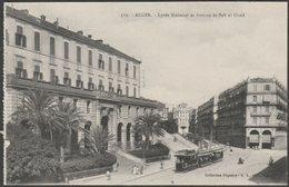 Lycée National Et Avenue De Bab El Oued, Alger, C.1910 - Régence CPA - Algiers
