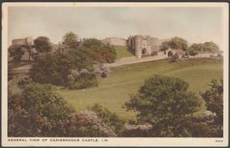 General View Of Carisbrooke Castle, Isle Of Wight, 1933 - WJ Nigh Postcard - England