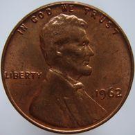 United States 1 Cent 1962 AUNC / UNC - Emissioni Federali