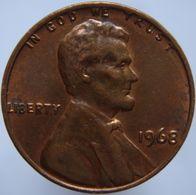 United States 1 Cent 1968 AUNC / UNC - Emissioni Federali