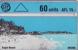 TARJETA TELEFONICA DE ARUBA. 402C, EAGLE BEACH (009) - Aruba