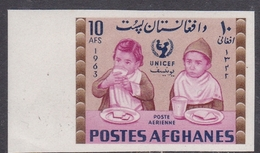 Afghanistan, Scott 673F 1964 UNICEF 10at Imperforated, Mint Never Hinged - Afghanistan