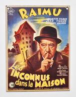 """Plaqué émaillée : Affiche Du Film """"Les Inconnus Dans La Maison"""" - RAIMU - Centenaire SIMENON 2003 - Emaillerie Belge - Advertising (Porcelain) Signs"""
