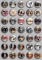 Queen BAND Music Fan ART BADGE BUTTON PIN SET (1inch/25mm Diameter) 35 DIFF - Music