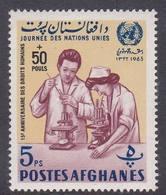 Afghanistan, Scott B71D 1964 United Nation Day Surcharged, 5p+50p, Mint Never Hinged - Afghanistan