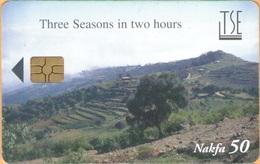 Erithrea - Eritel, ER-ERI-0009B, Three Seasons In Two Hours - Countryside, GEM5 (Red), 50 Nfk, Used - Eritrea