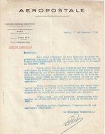 FRANCE : PA . AEROPOSTALE . SUR L'EVOLUTION DES RECETTES COMMERCIALES . DU SERVICE EUROPE-AMERIQUE DU SUD .  . - Autographs
