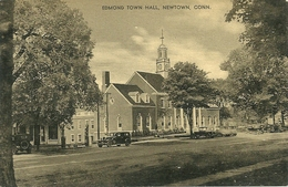 EDMOND TOWN HALL, NEWTOWN, CONN (ref 2458) - Etats-Unis