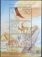 Kazakhstan, 2004, Mi. 474-76 (bl. 31), Sc. 463, Animals, Birds Of Prey, Eagle, MNH - Kazakhstan