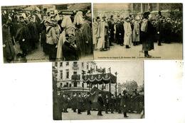 Funérailles Du Roi Léopold II - 3 Cartes - Funérailles
