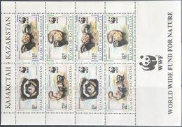Kazakhstan, 1997, Mi. 154-57, Y&T 124-27, Sc. 171-74, WWF, Animals, MNH - Kazakhstan